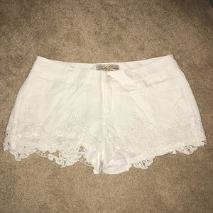Lucky Brand Lace White Shorts